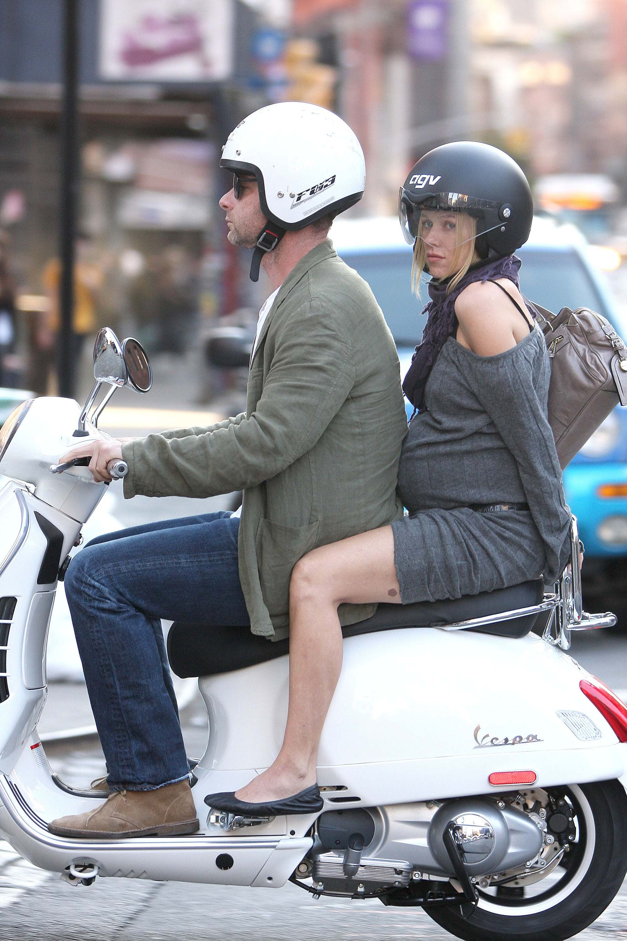 pictured on a Vespa